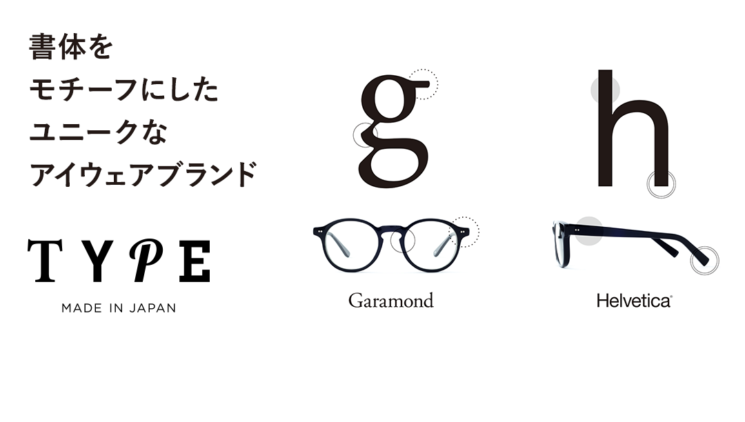 TYPE American Typewriter Bold-Clear Sunglasses [鯖江産/ボストン]  ブランド紹介